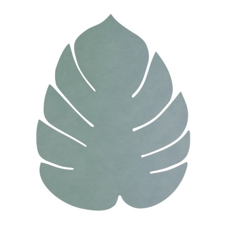 Dækkeserviet LINDDNA monstera blad - pastel green