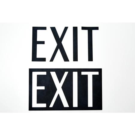 Sign i sort læder - EXIT