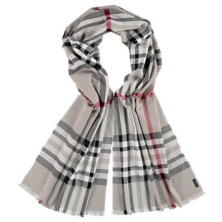 Tørklæde - stribet grå