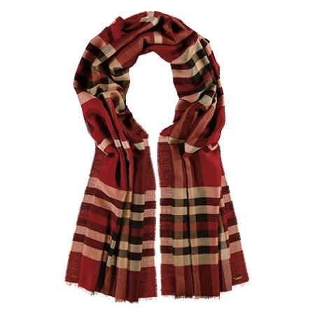 Tørklæde - bordeaux/rødt
