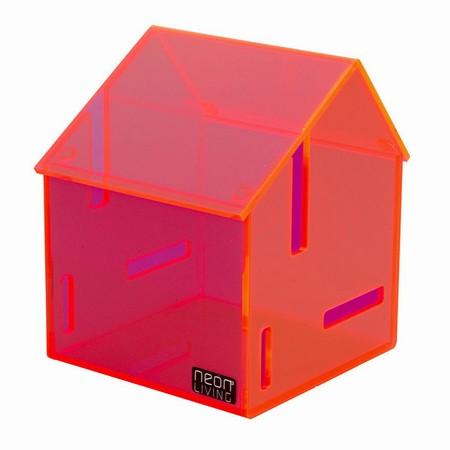 Akryl opbevarings boks - rød
