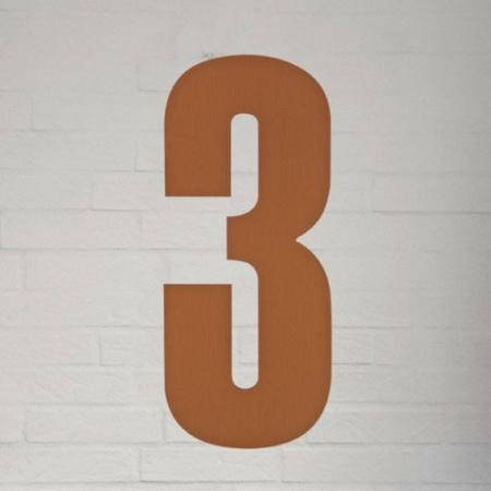 Kobber husnummer 40 cm - 3