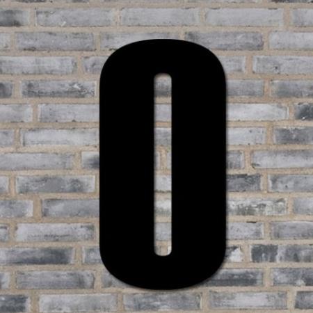 Sort husnummer 40 cm - 0