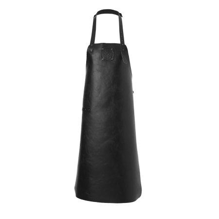 Læder forklæde i sort læder - Witloft