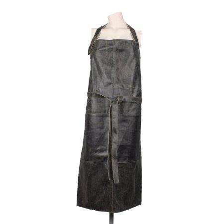 Læder forklæde - sort