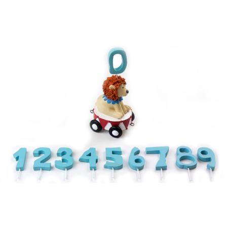 Ekstra vogn til fødselsdagstog - løve med tal
