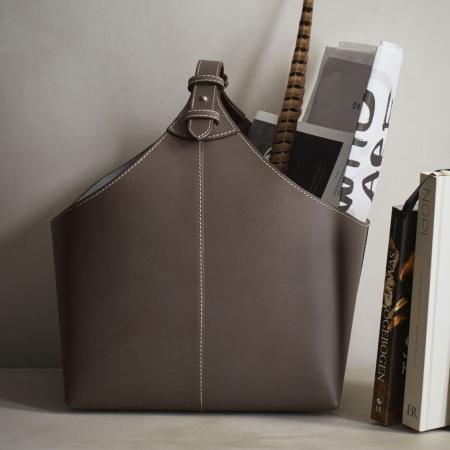 Magasinholder i læder - elefant