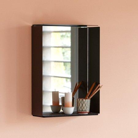 Mirror box med spejl - sort