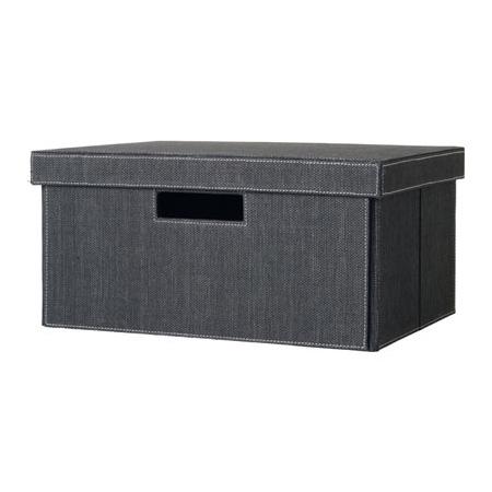 Topnotch Opbevarings kasse i sort - opbevarings boks med låg - Mono box LS76