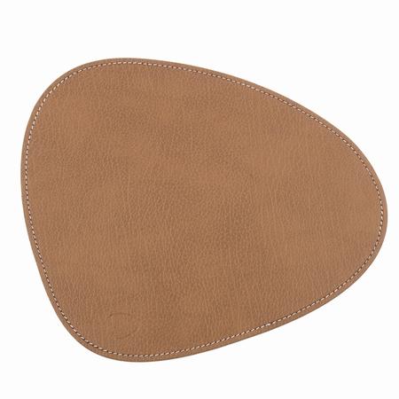 Musemåtte i brun læder