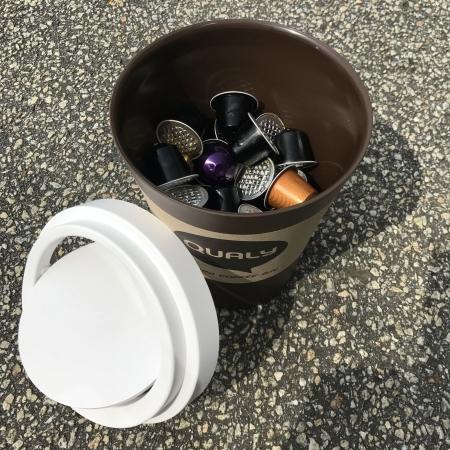 Papirkurv Coffee bin i brun - mini