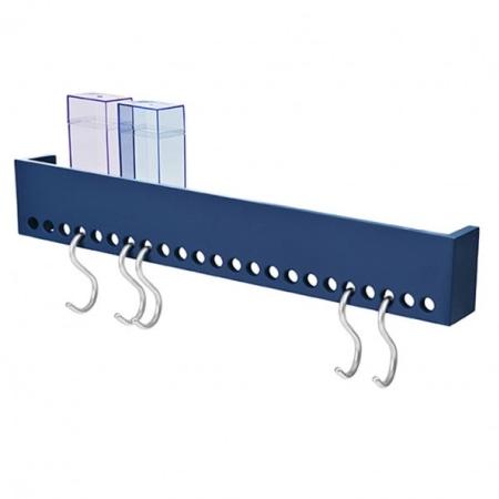 So-Hooked Wall Rack 60 knagerække - blå