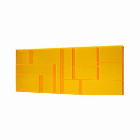 Sættekasse - orange akryl