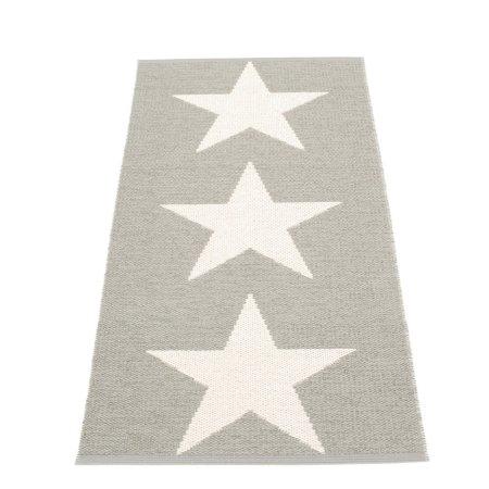 Pappelina gulv løber med stjerner - warm grey