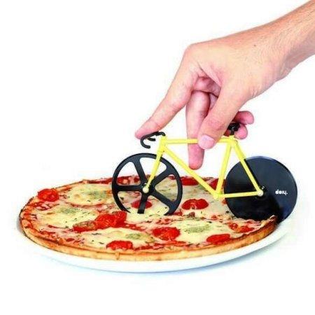 Pizzaskærer Fixie - gul cykel