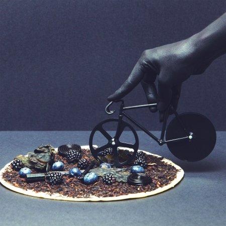 Pizzaskærer Fixie - sort cykel