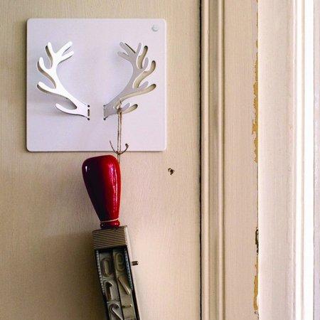 Mosaic deer knage - hvid