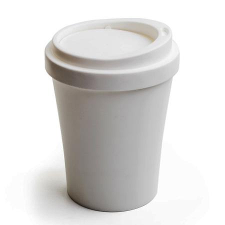 Papirkurv Coffee bin i hvid - mini