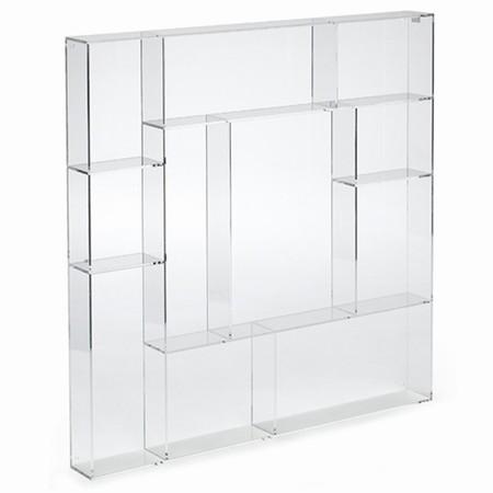 Sættekasse kvadratisk - klar akryl