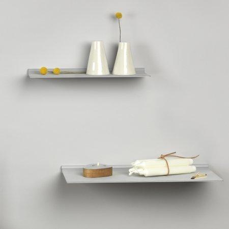 Slim Shelf i metallic læder - medium