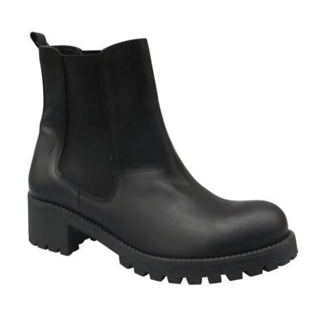 læder støvler med for