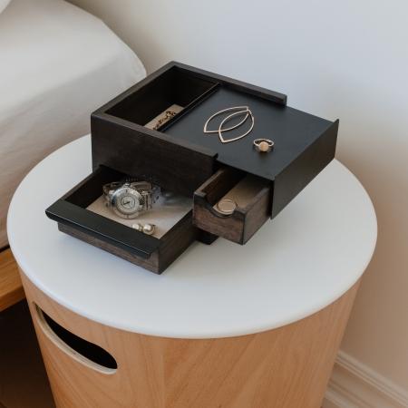 Mini Stowit smykkeskrin - valnød