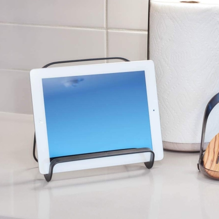 Kogebogholder - tabletholder i sort