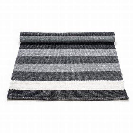 Plastik tæppe sort/grå/hvid - 75x200 cm