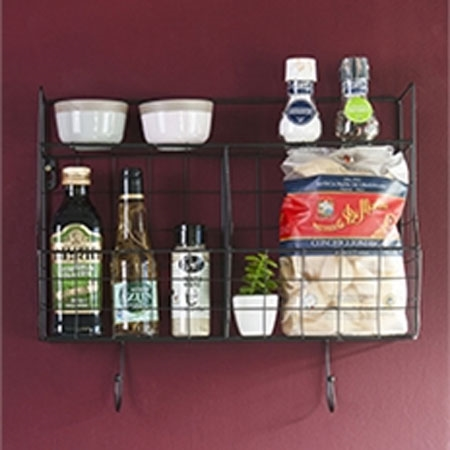 Sort metal tråd holder til væg