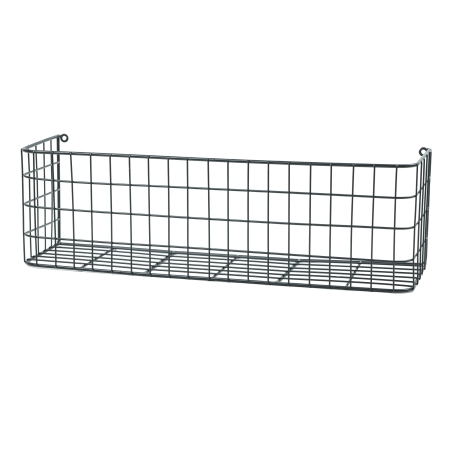 Sort trådkurv i sort metal