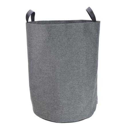 Vasketøjspose rund - grå