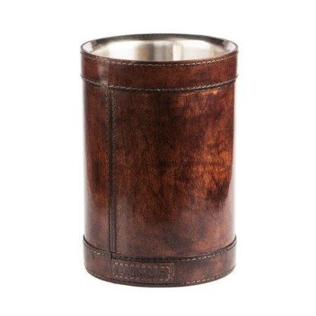Læder vinkøler Winston - mørk brun