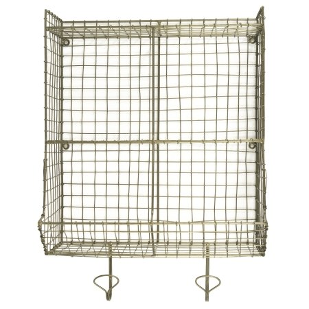 Wire holder til væg - messing look