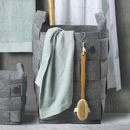 Zone Hide Vasketøjskurv - lys grå