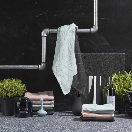 Viskestykke dusty blue - Zone